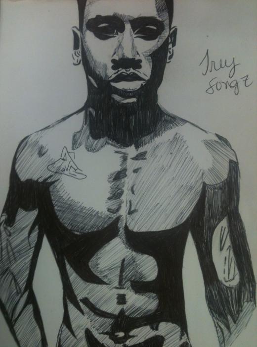 Trey Songz par Babybell